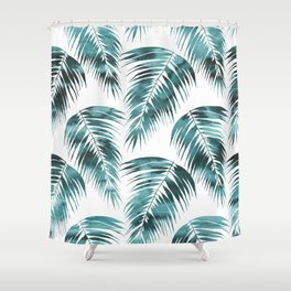 Maui Palm Leaf 2 green Shower Curtain