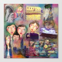 monet Canvas Prints featuring Monet by sara aguiar