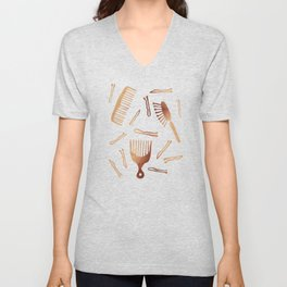 Good Hair Day – Rose Gold Palette Unisex V-Neck