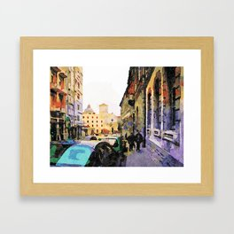 Catanzaro: course with cathedral Framed Art Print