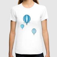 hot air balloons T-shirts featuring Hot air balloons - blue mountains by Tat Georgieva