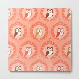 Sweet Owlies - Dawn Metal Print