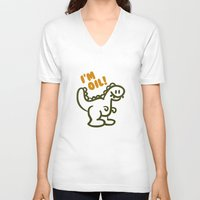 oil V-neck T-shirts featuring I'm Oil! by AmazingVision