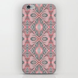 Boho Feather Gentle Pink Neon Ombre Geometric iPhone Skin