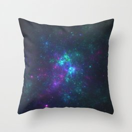 Purple Cluster Galaxy Version 2 Throw Pillow