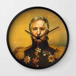 Alan Rickman - replaceface Wall Clock