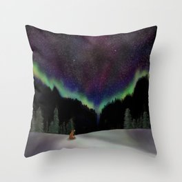 Captured by the night Throw Pillow