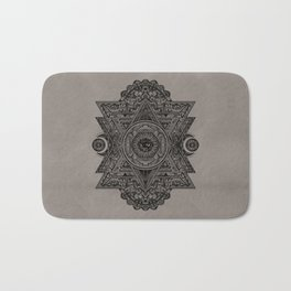 All Seeing eye in Sacred Geometry Drawing Bath Mat