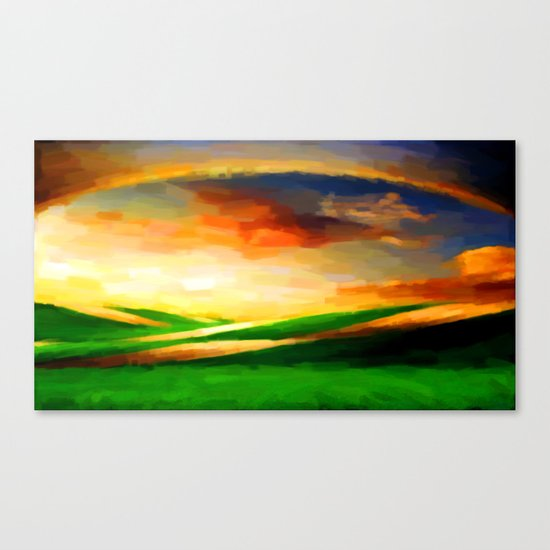 Colorful Sky - Painting Style Canvas Print