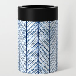 Shibori Herringbone Pattern Can Cooler