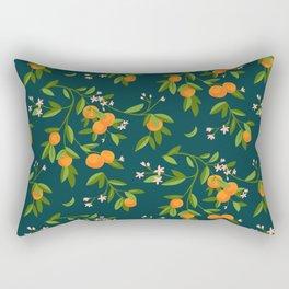 Citrus Tree - Navy Rectangular Pillow