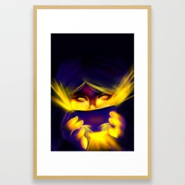 From Behind the Mask Framed Art Print