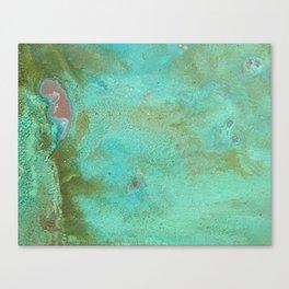 Listening in Green Canvas Print