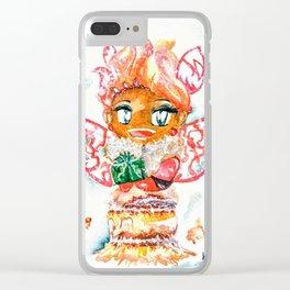 Mochi-Yuki Tiramisu - Food and Chibi Clear iPhone Case