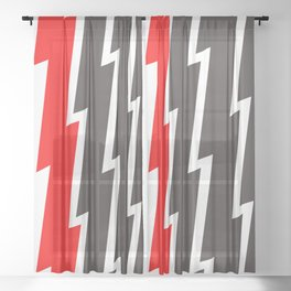 Thick Lightning Bolts Sheer Curtain