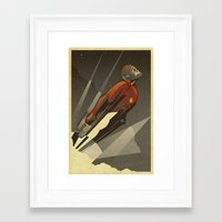 star Framed Art Prints featuring The Star-Lord by Danny Haas