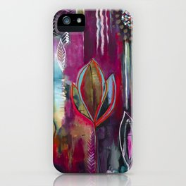 """Held and Healed"" Original Painting by Flora Bowley iPhone Case"