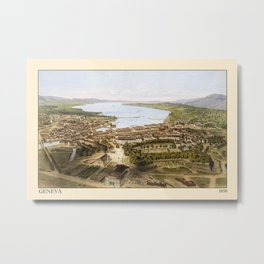 Geneva 1858 Metal Print