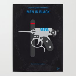 No586 My Men in Black minimal movie poster Poster