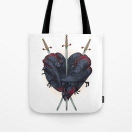 Three Of Swords Tote Bag