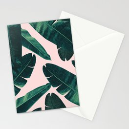 Banana Leaves - Cali Vibes #1 #tropical #decor #art #society6 Stationery Cards