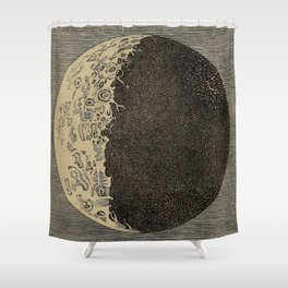 Five Day Moon Shower Curtain