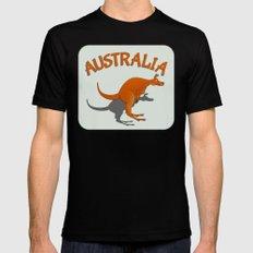 Kangaroo Australia MEDIUM Black Mens Fitted Tee