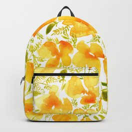Watercolor California poppies (Quad set, #4) Backpack
