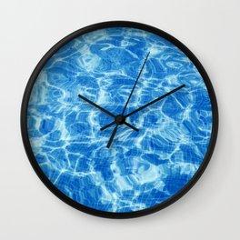 Swimming Pool water, Ripple Water, Sun Reflection Wall Clock
