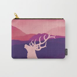 Oh Deer Purple Hills Carry-All Pouch