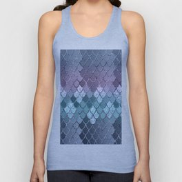 Mermaid Scales Navy Blue Teal Purple Glam #1 #shiny #decor #art #society6 Unisex Tank Top