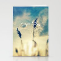 carpe diem Stationery Cards featuring Carpe Diem by Sandra Arduini