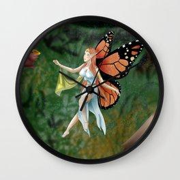 Monarch Fairy Wall Clock