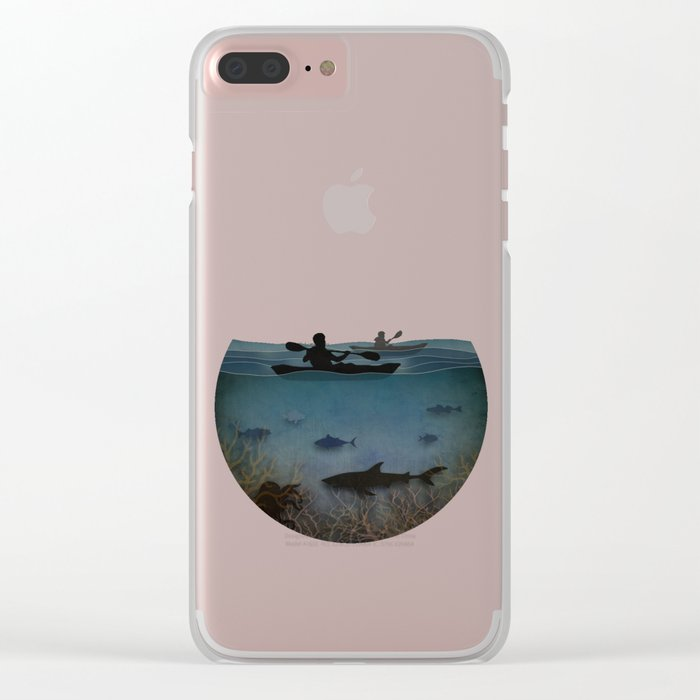 Sea Kayaking Clear iPhone Case