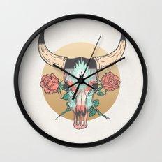 cráneo de vaca Wall Clock
