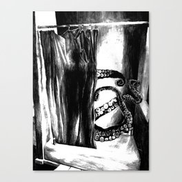 Some(thing)one In The Shower Canvas Print