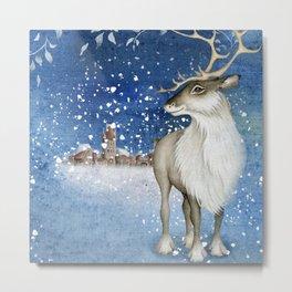 Christmas vintage deer #1 Metal Print