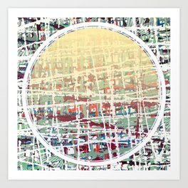 Crisscrossing - circle Art Print