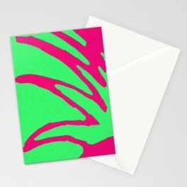 Green Pink Pattern Stationery Cards