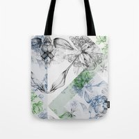 serenity Tote Bags featuring Serenity by La Scarlatte