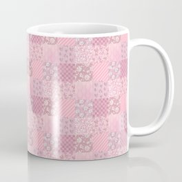 Pink Floral Patchwork Coffee Mug