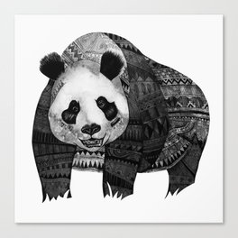"""Native Youth Panda""  Canvas Print"