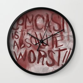 I HATE COMCAST Wall Clock