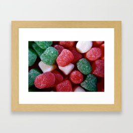 Christmas Spice Drop Candy Framed Art Print