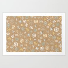 snow flakes pattern Art Print