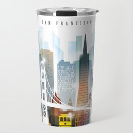 City of San Francisco painting Travel Mug