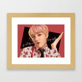 BTS V IDOL FANART Framed Art Print