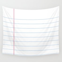 Notebook Paper Wall Tapestry