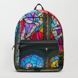 Christmas Church Window Backpack