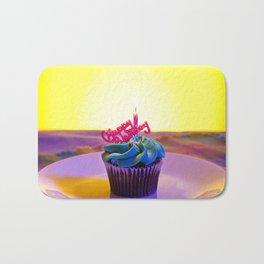 Happy Birthday Cupcake Bath Mat